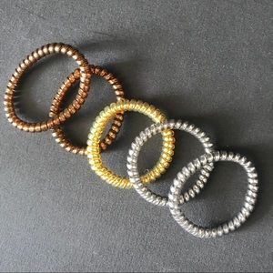 Accessories - Metallic Phone Cord Hairbands